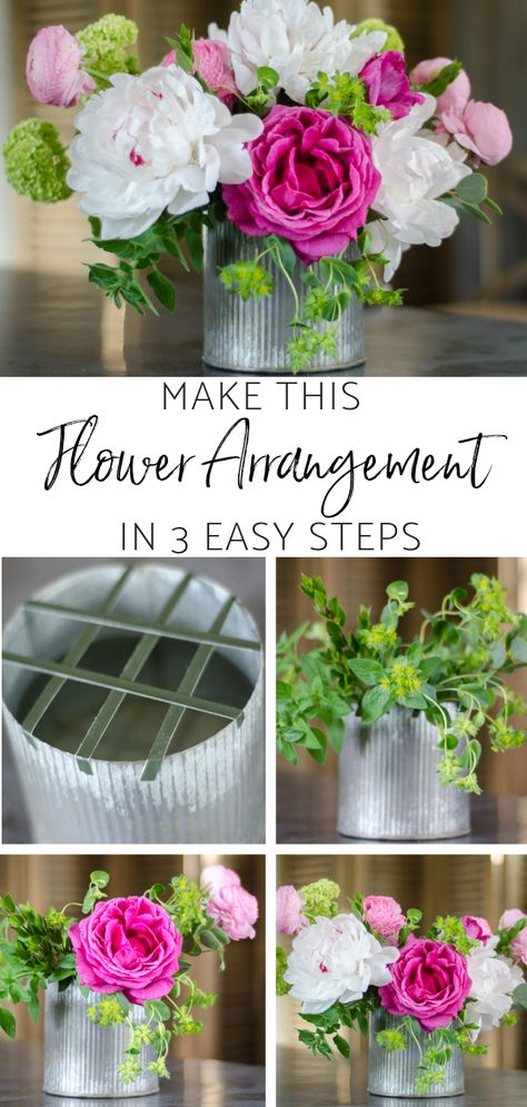 Make This Spring Flower Arrangement in 3 Easy Steps – Sanctuary Home Decor Make This Spring Flower Arrangement in 3 Easy Steps-Wedding centerpiece-DIY Centerpiece Small Flowers, Diy Flowers, Spring Flowers, Flower Decorations, Flower Pots, Beautiful Flowers, Wedding Flowers, Potted Flowers, Orchid Flowers