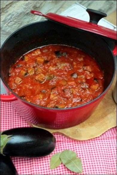 Riste d'aubergine, une spécialité provençale d'aubergine et de tomate compotées