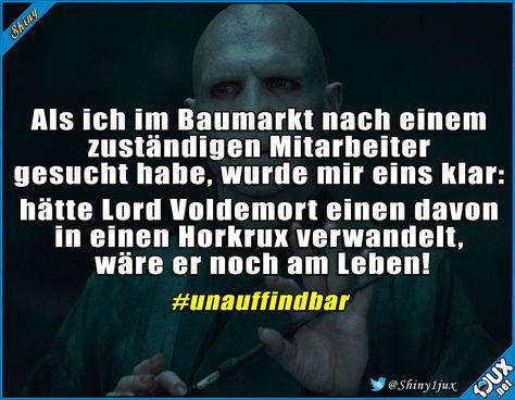 Tipp für Lord Voldemort. #Horkrux #Baumarkt #lustigeBilder #Spaß #Spass