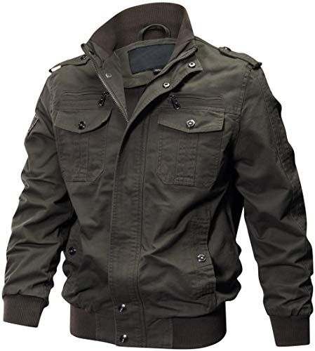 Best Seller Gopune Men S Cotton Military Jackets Outdoor Casual