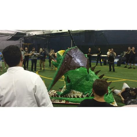 Cake Boss provides a 8 ft fire breathing dragon to the Armored Combat League at the Coliseum Fight Club located at 333 Preston AV VOORHEES NJ 08043 http://www.coliseumfightclub.com