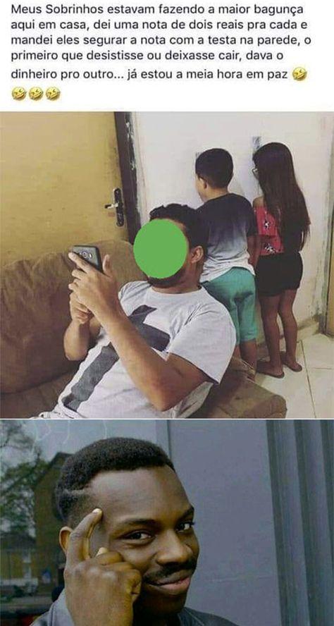 Esse cara teve uma boa ideia para as crianças ficarem…