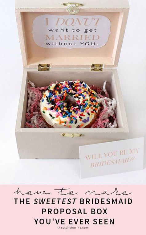 Looking for cute and creative ideas to ask your besties to be your bridesmaids? Check out these easy DIY bridesmaid proposal boxes you can make on a budget. You can even download a free printable to use for this cheap and unique project.