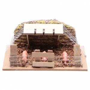Décor mangeoire et chèvres 10x15x10 | Decoration, Creche de noel