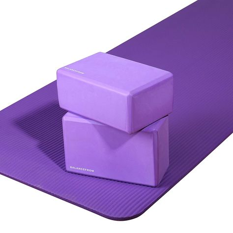 BalanceFrom BFGY-AP6PP Go Yoga All Purpose Anti-Tear Exercise Yoga Mat with
