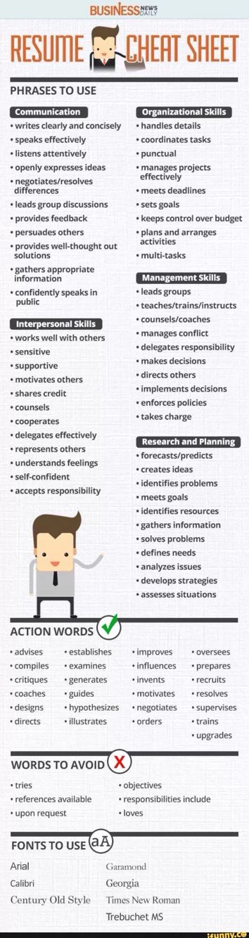 How to Write a perfect résumé Helpful Pinterest Life hacks - writing the perfect resume