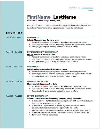 Image Result For Sample Of Curriculum Vitae In Nigeria Cv Format Curriculum Vitae Examples Job Cv