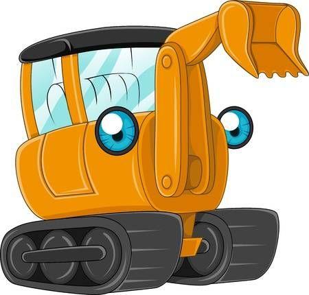 Ilustracion De Una Excavadora En El Trabajo Excavadoras Dibujo De Lobos Dibujos