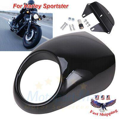 Advertisement Ebay Glossy Black Front Headlight Fairing Visor For