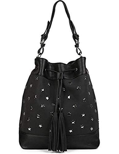 styleBREAKER XL Bucket Bag Beuteltasche mit Stern Nieten und