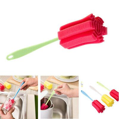 Bottle Cups Glass Sponge Brush Cleaner Washing Cleaning Home Kitchen Tool Tools