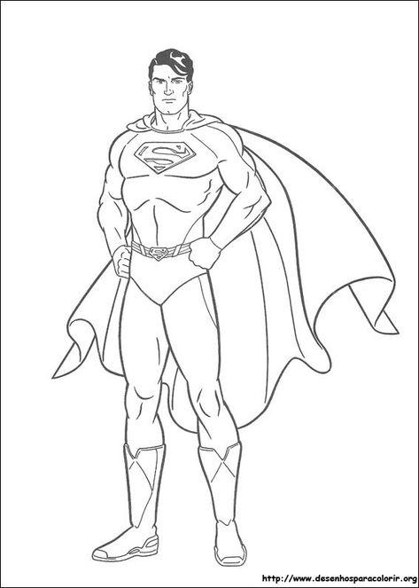 Desenhos Do Superman Para Colorir Em 2020 Superman Desenho