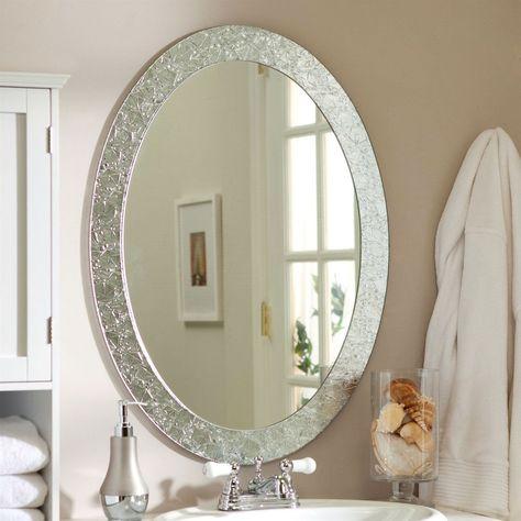 Oval Frame Less Bathroom Vanity Wall