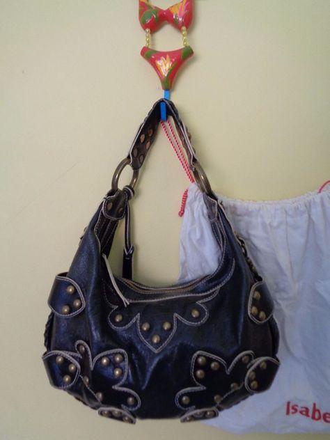 50ec11a77e ISABELLA FIORE OASIS Black Hobo with Dust Bag #IsabellaFiore #Hobo