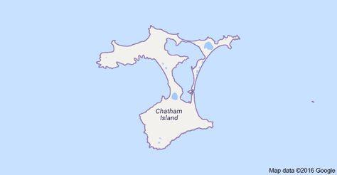 Harta Pentru Chatham Islands Noua Zeelandă Chatham Islands