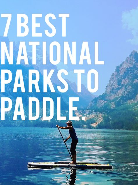 7 Best National Parks for Paddle Boarding Crystal clear water, wildlife sightings, and jaw-dropping views.Crystal clear water, wildlife sightings, and jaw-dropping views. Paddle Board Surfing, Sup Stand Up Paddle, Sup Paddle, Standup Paddle Board, Sup Surf, Paddle Boarding, Paddle Board Yoga, Boating Holidays, Sup Yoga