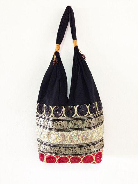 854c3293796e Thai Elephant Shoulder Bag Embroidery Bag Cotton Boho Handmade Multi Color   Newbrand  Hippie