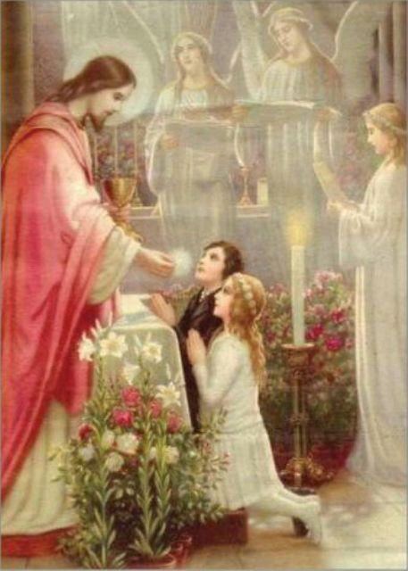 Открытки с первым причастием католика