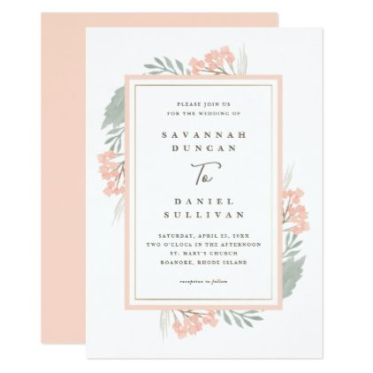 An Amazing Watercolor Wedding Invitation Design Featuring A