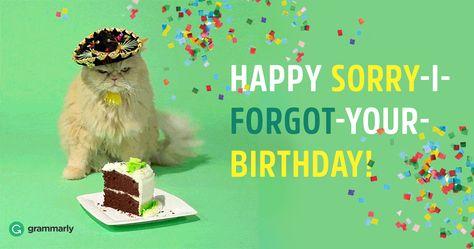 Happy Belated Birthday or Belated Happy Birthday?