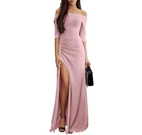 Vestido De Noche En Color Rosa En 2019 Maxi Vestido