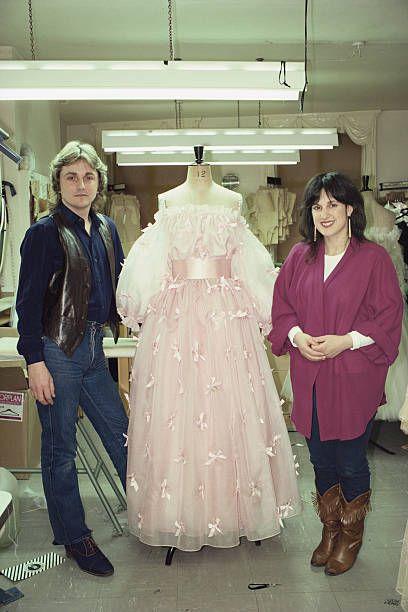 Fashion Designers David Emanuel And Elizabeth Emanuel In Their Elizabeth Emanuel Fashion Fashion Design
