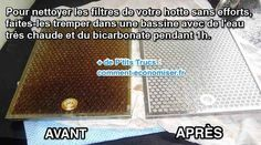Il existe un truc pour nettoyer facilement les filtres de votre hotte. L'astuce est de les faire tremper dans de l'eau chaude et du bicarbonate.   Découvrez l'astuce ici : http://www.comment-economiser.fr/astuce-pour-degraisser-facilement-hotte-aspirante.html?utm_content=buffer75eda&utm_medium=social&utm_source=pinterest.com&utm_campaign=buffer