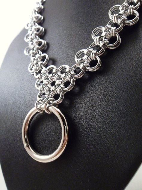 Chainmaille Necklace Bondage Collar Japanese Lace