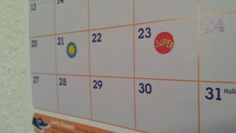Use stickers on a visible wall calendar keeping track of workouts to keep you motivated and feeling accomplished