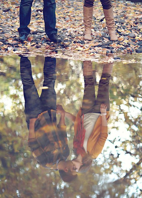 How great would this be... catching the boys reflections playing in a puddle