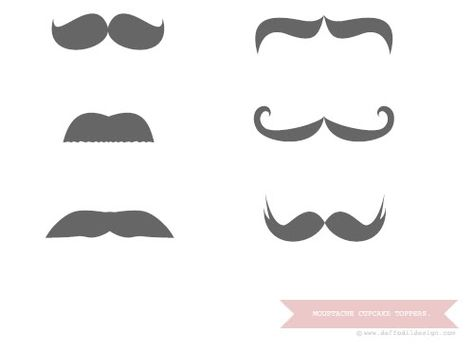 Printable mustache cupcake toppers