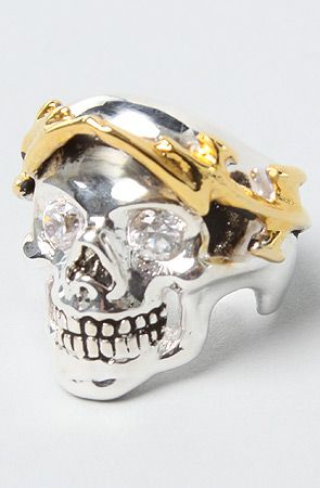 The Skull Of Zeus Ring in Brass Plated Silver by Han Cholo