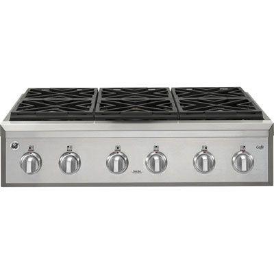 Ge Cafe 36 6 Burner Gas Cooktop Cgu366sehss Stainless Steel