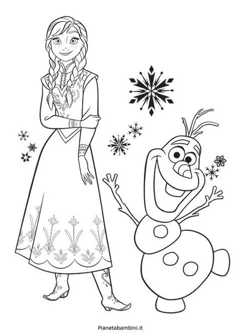 Disegni Per Bambini Da Colorare On Line Frozen Frozen Coloring
