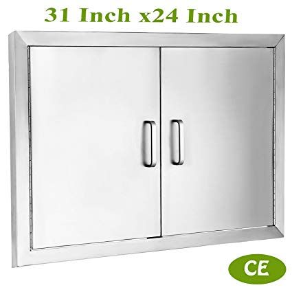 Mophorn Double Wall Bbq Access Door Cutout 31 Width X 24 Height Bbq Island Door W Brushed Stainless Steel Perfect For Outdoor Kitchen Or Bbq Island Review Bbq Island Bbq Stainless Steel Doors