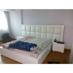 White Modular Wooden Bed For Hotel Double Bed Designs Bed