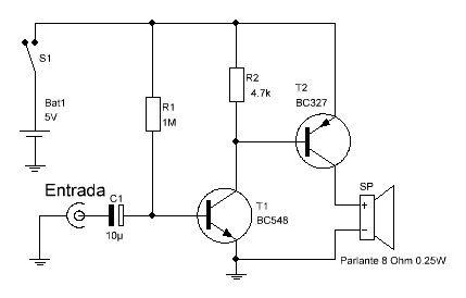 Circuito del mini amplificador de audio fácil de hacer ...