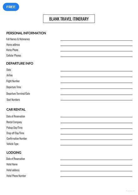 Blank Travel Itinerary Template Free Pdf Word Apple Pages Google Docs Itinerary Template Free Itinerary Template Vacation Itinerary Template
