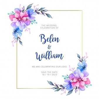 Download Watercolor Wedding Invitation For Free In 2020