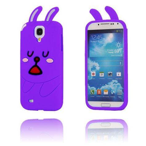 Schattig Konijn (Paars) Samsung Galaxy S4 Hoesje