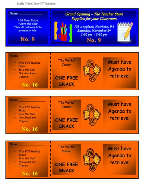 Raffle Ticket Template 1 Positively Printable! Pinterest - benefit ticket template