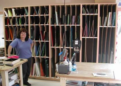 Wonderful My Dad Built Me Some Racks Like This. Iu0027d Love To Have An Entire Wall Of  Them In My New Studio Some Day. | Stained Glass Studio | Pinterest | Dads,  ...