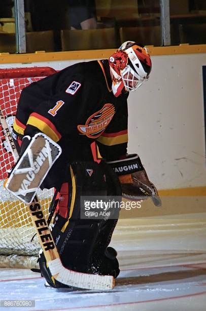 Kirk Mclean Of The Vancouver Canucks Skates Against The Toronto Maple Picture Id886760980 406 612 Vancouver Canucks Canucks Hockey Goalie