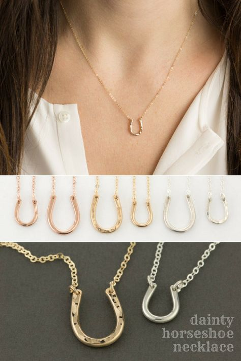 lucky Dainty horseshoe necklaces in...