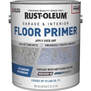 Rust Oleum 1 Gal Concrete And Garage Interior Exterior Recoat Primer 2 Pack 338806 The Home Depot Garage Floor Paint Garage Interior Garage Floor