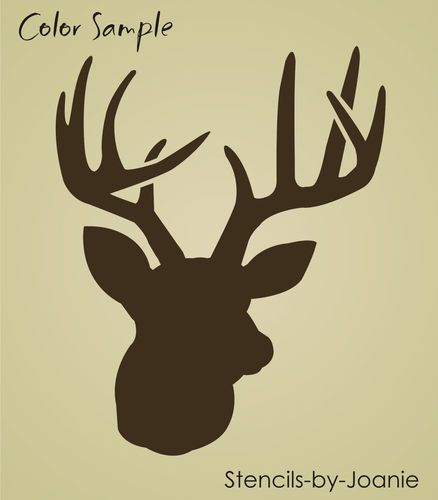 Joanie Stencil Deer Outdoor Rustic Wild Mountain Hunt Lodge Look Cabin signs