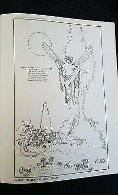 A Shakespeare Coloring Book Two Bellerophon Books 1970 Uncolored Coloring Books Color Books