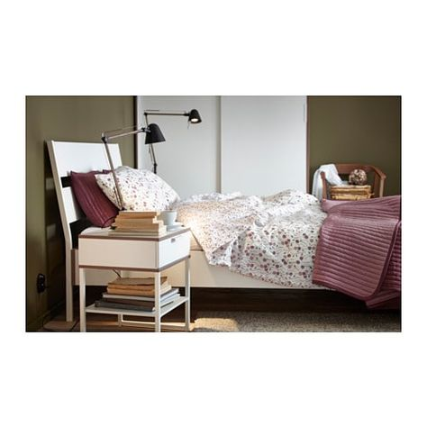 Trysil Bed Frame White Luroy Standard Double White Bedside