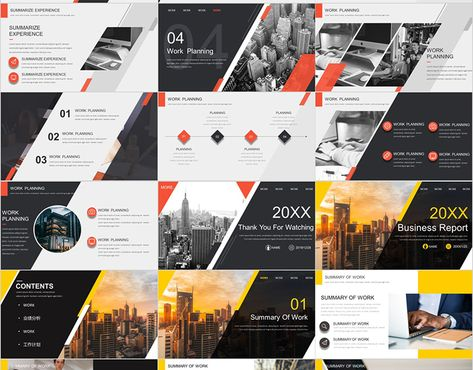 3 IN 1 BUSINESS REPORT POWERPOINT on Behance