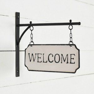Hanging Bracket Welcome Sign Welcome Sign Cottage Signs Wall Plaques Signs